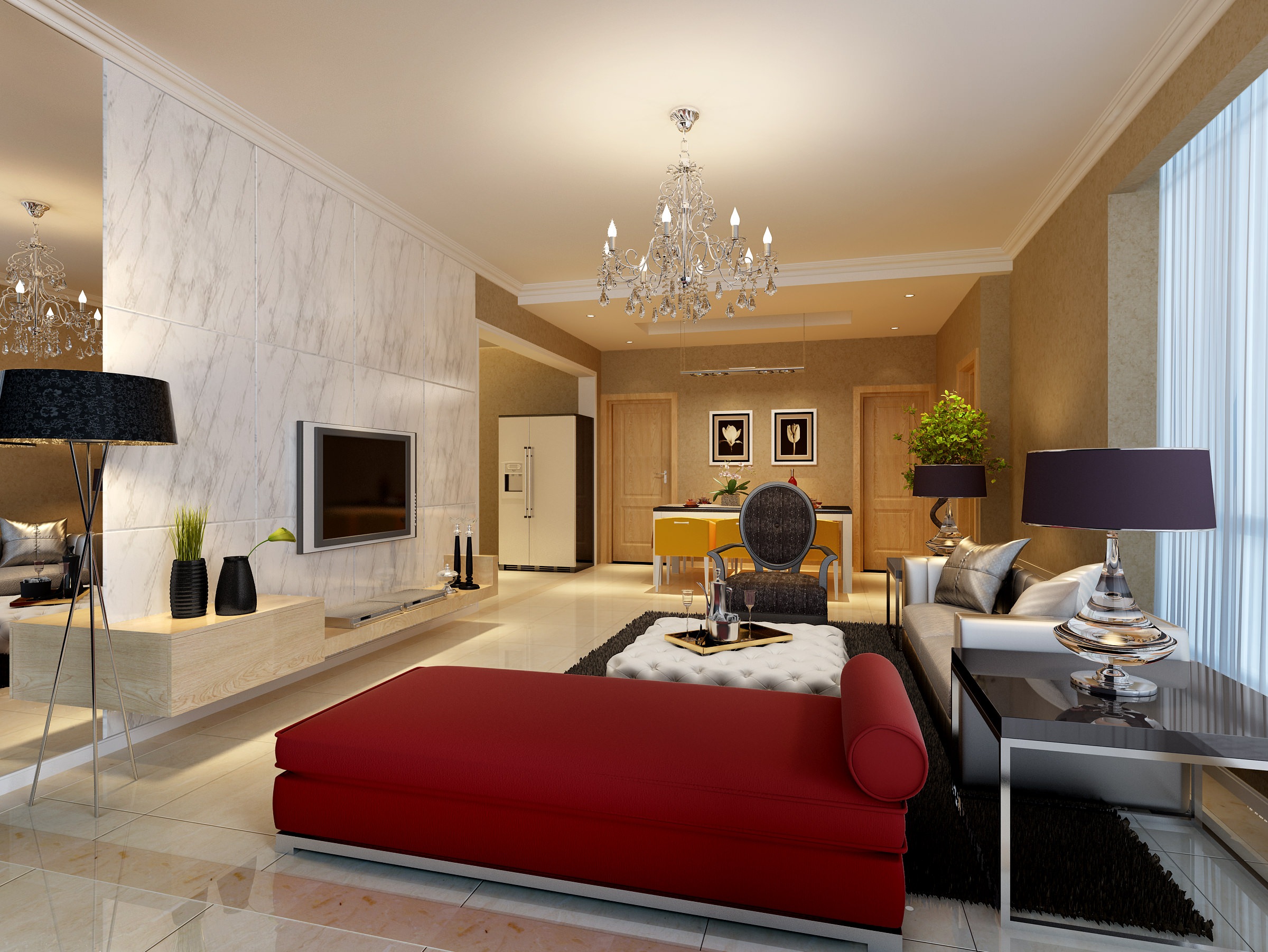 Living Room 3d Design Living Room And Bedroom Collection 15 3d Model Max Cgtradercom