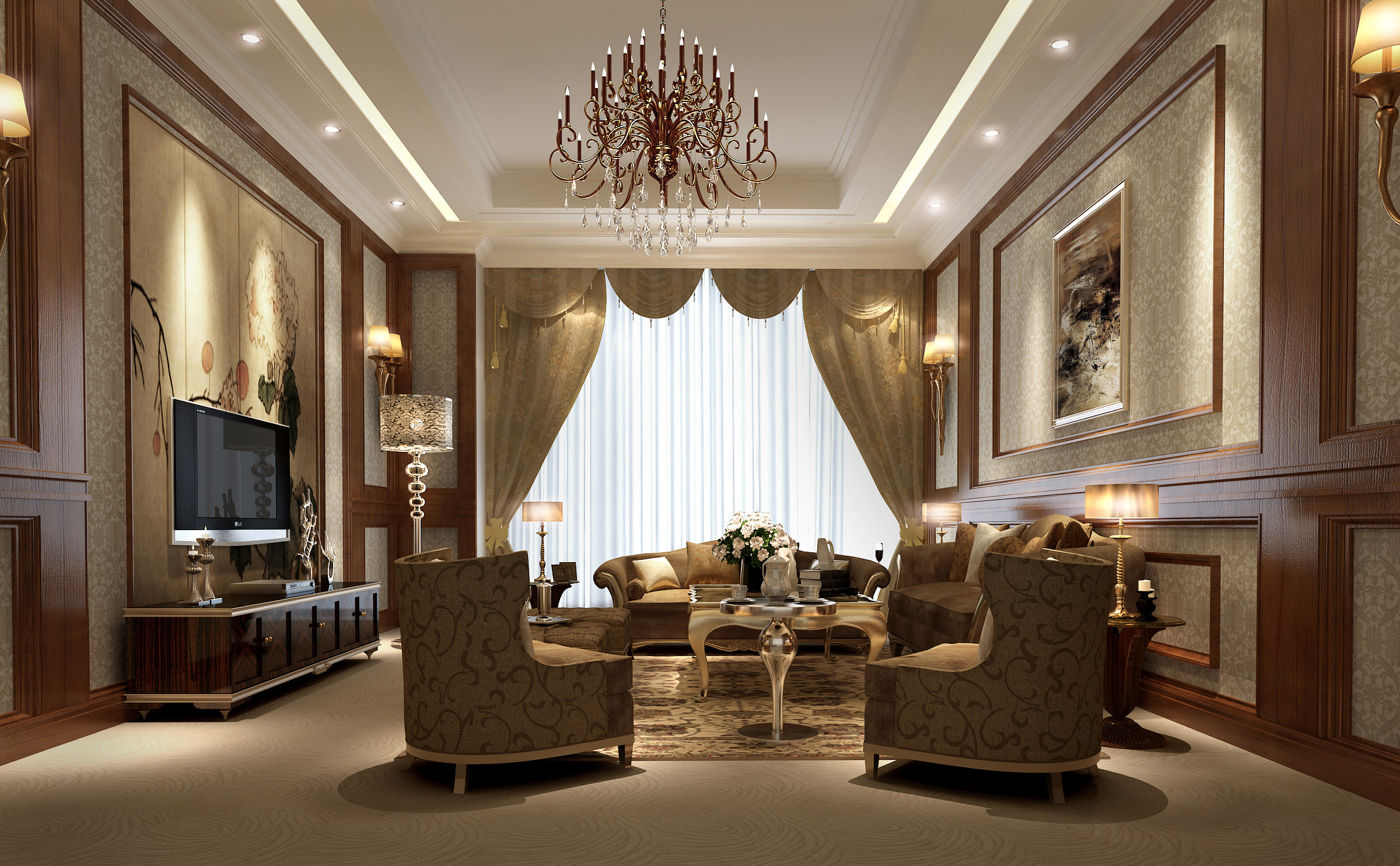 Collection living room and bedroom collection 3 3d model max 7