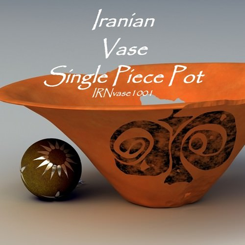 iranian vase single piece pot 3d model obj lwo lw lws 1