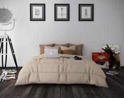 3D model Bedroom minimalist