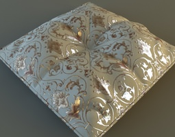 3D Brocade Pillow Low Poly