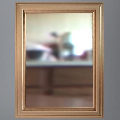 Rectangular wall mirror 3d model max obj 3ds fbx mtl for Mirror 3d model