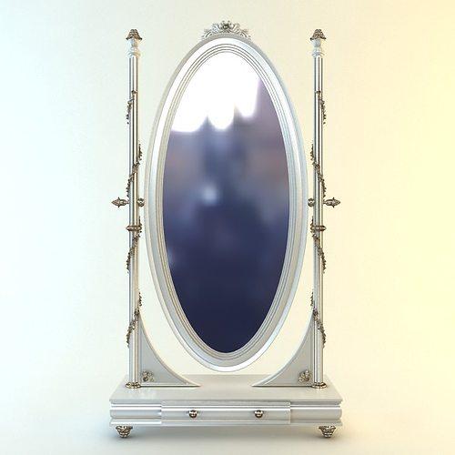 Savio firmino cheval mirror 3d model max fbx for Mirror 3d model