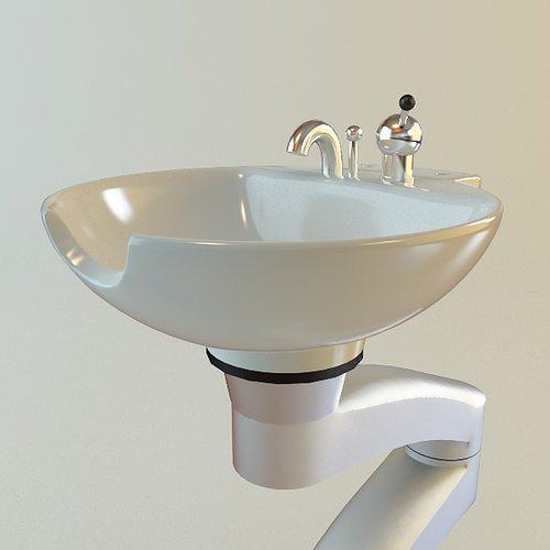 Hair Salon Shampoo Sink 3d Model Max Obj 3ds Fbx Mtl