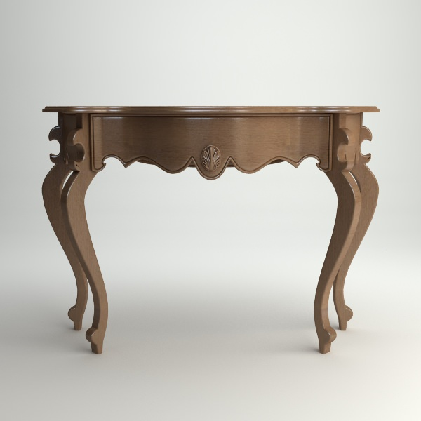 Lovely Wooden Console Table 3d Model Max Obj 3ds Fbx Mtl 1 ...
