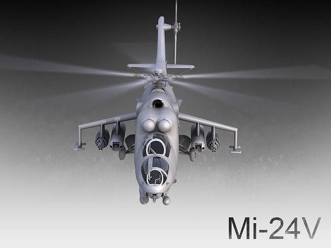 mi-24v 3d model max 1