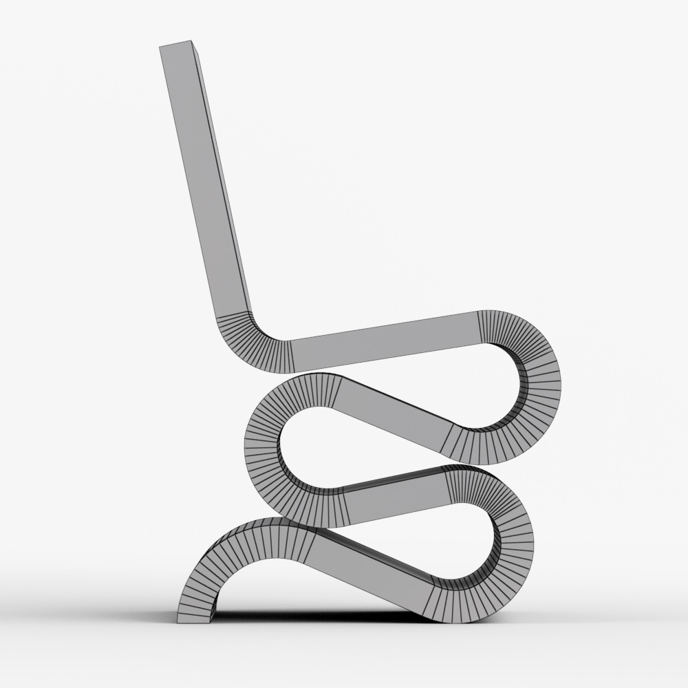 easy edge wiggle side chair by vitra d model max obj ds fbx dwg -  easy edge wiggle side chair by vitra d model max obj ds fbx dwg
