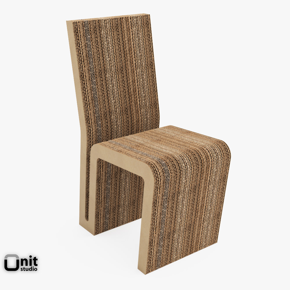 vitra easy edge side chair by frank o gehry 3d cgtrader