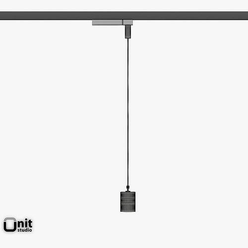 Zumtobel Vivo P M Pendant Spotlight 3D Model MAX OBJ 3DS