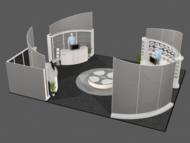 D Model Of Exhibition : D architectural exhibit booth cgtrader