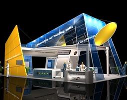 exhibit booth 029 3d model