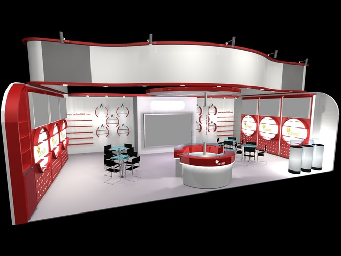 D Exhibition Booth Model : D exhibit booth store interior cgtrader