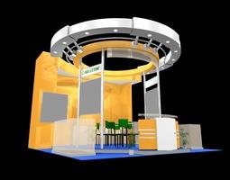 exhibit booth 187 3d model