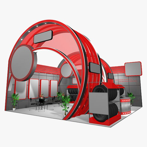 Exhibition Stand 3d Model Sketchup : D panel exhibition stand cgtrader