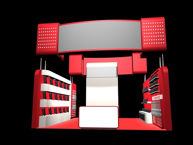 D Max Exhibition Stand Tutorial : D interior exhibition stand cgtrader