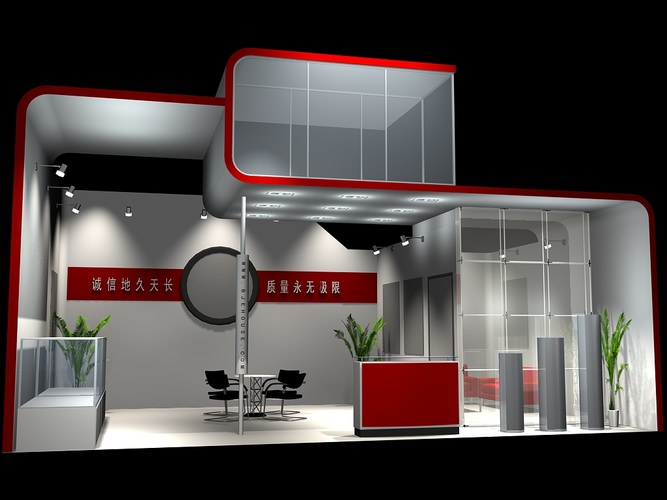 Exhibition Stand 3d Model Sketchup : Exhibition stand graphic d model cgtrader