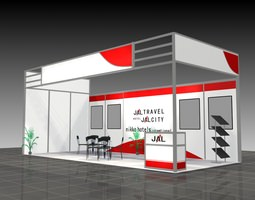 3d model exhibition stand 207