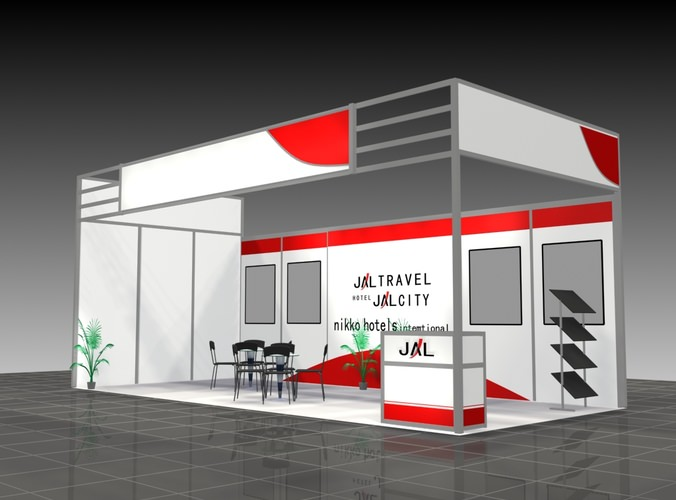 Exhibition Stand 3d Model Free : Exhibition stand d panel cgtrader