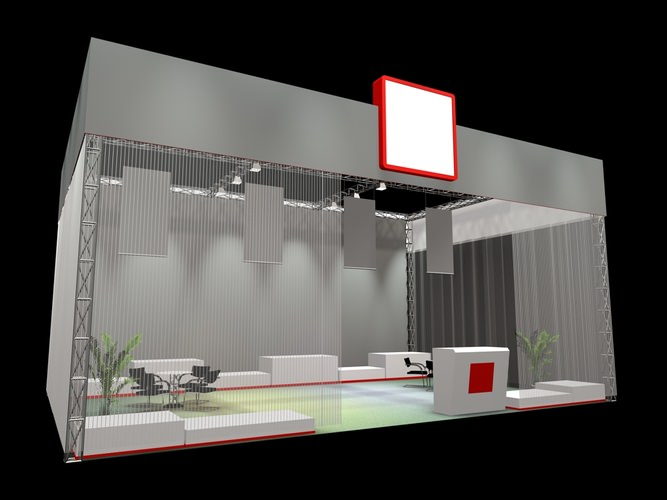 3d Exhibition Stand Design Software : Display d exhibition stand cgtrader