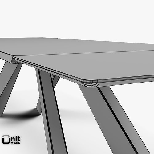 3D Big Table Bonaldo extendable | CGTrader