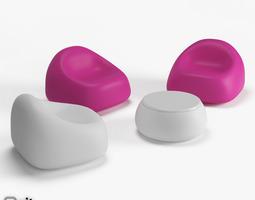 Lounge set by Plust 3D model