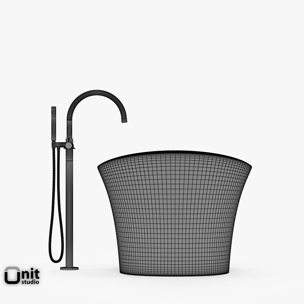 Jacuzzi Infinito Bathtub With Floor Standi... 3D Model .max .obj .3ds .fbx .dwg