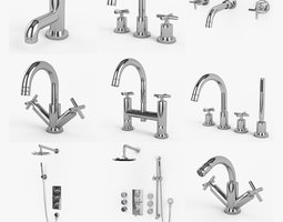 Luxury Bathroom Faucets Collection Hudson Reed Helix 3d Model Max Obj 3ds Fbx