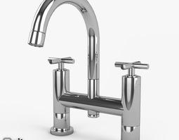 3D model Bathtub Faucet Helix series by Hudson Reed Deck
