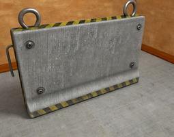 Road Block Armored Concrete 3D model
