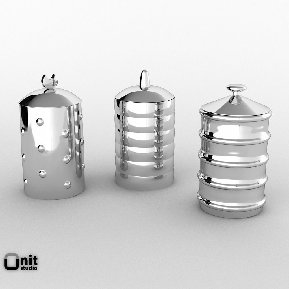 ... alessi kalisto kitchen canister 3d model max obj fbx 3 ... - 3D Alessi Kalisto Kitchen Canister CGTrader