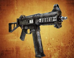3D asset UMP45 Submachine gun