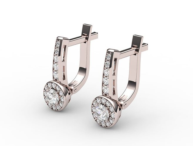 diamond earrings model - photo #11