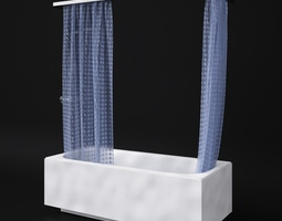 Bath and shower 3D