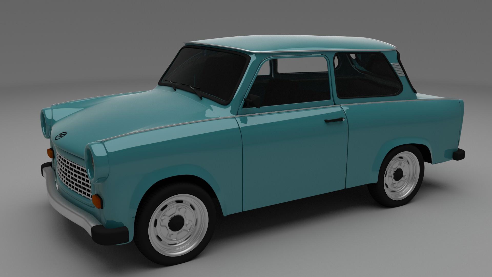 trabant 601 3d model obj blend dae. Black Bedroom Furniture Sets. Home Design Ideas