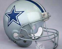 3D Dallas Cowboys official game helmet