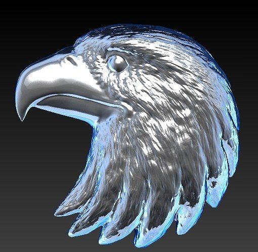 eagle head 3d model stl 1