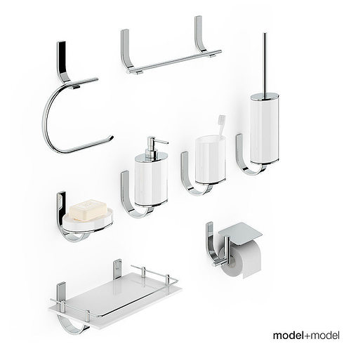 Bath accessories newform base 3d model cgtrader for 3d bathroom accessories