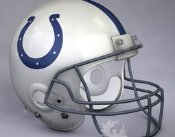 Indianapolis Colts official game helmet 3D