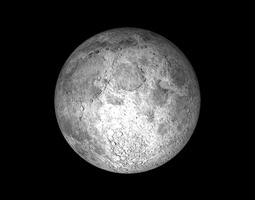 3d asset the moon low-poly