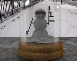 snowminator globe 3d model