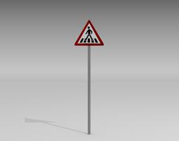 pedestrian crossing sign 3d