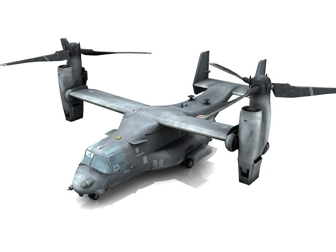 v-22 osprey 3d model max 1