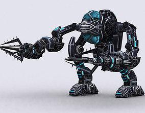 animated 3DRT - Mech robot engineer - 06