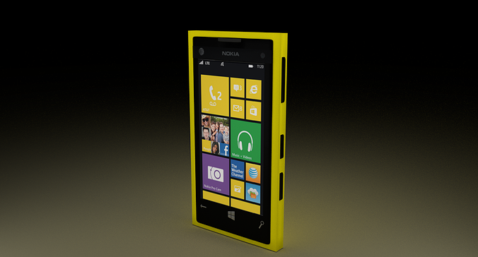 nokia lumia 1020 3d model blend 1