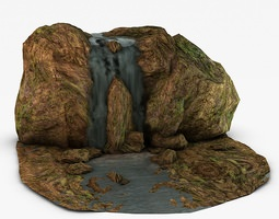 3D model Mossy Waterfall
