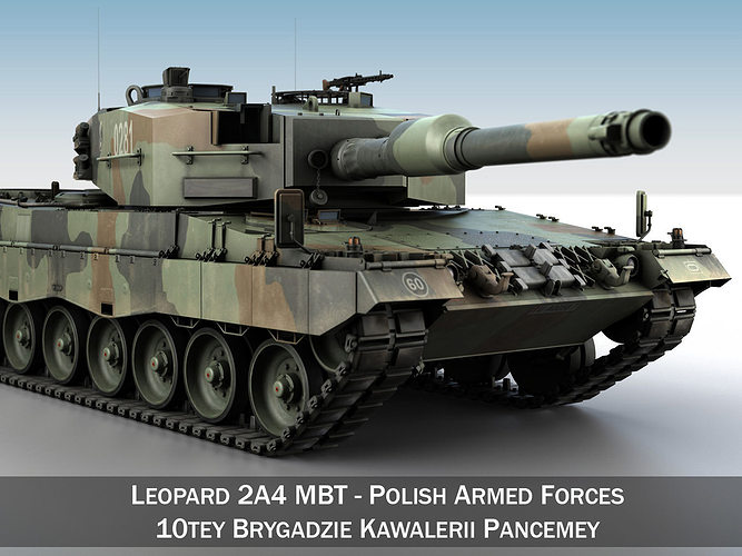 095d1fbee8cc leopard 2a4 mbt - polish armed forces 3d model obj mtl 3ds fbx c4d lwo lw  ...