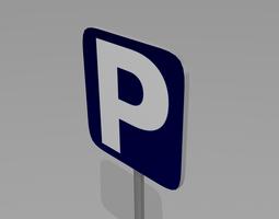 parking sign 3d