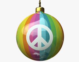 3D model Christmas Ball - Peace