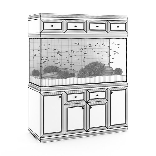 aquarium cabinet 3d model max obj mtl fbx c4d 1