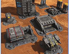 3D asset SciFi Base Pack 01